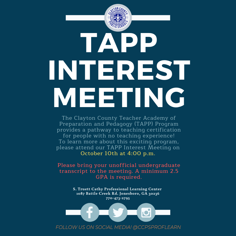 TAPP Interest Meeting October